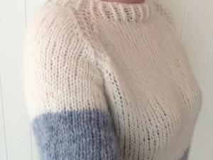 Lett Genser strikket med Drops Air