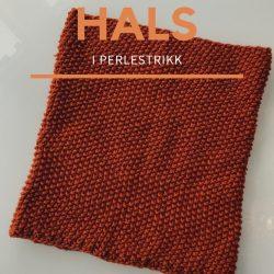 strikkeoppskrift enkel hals