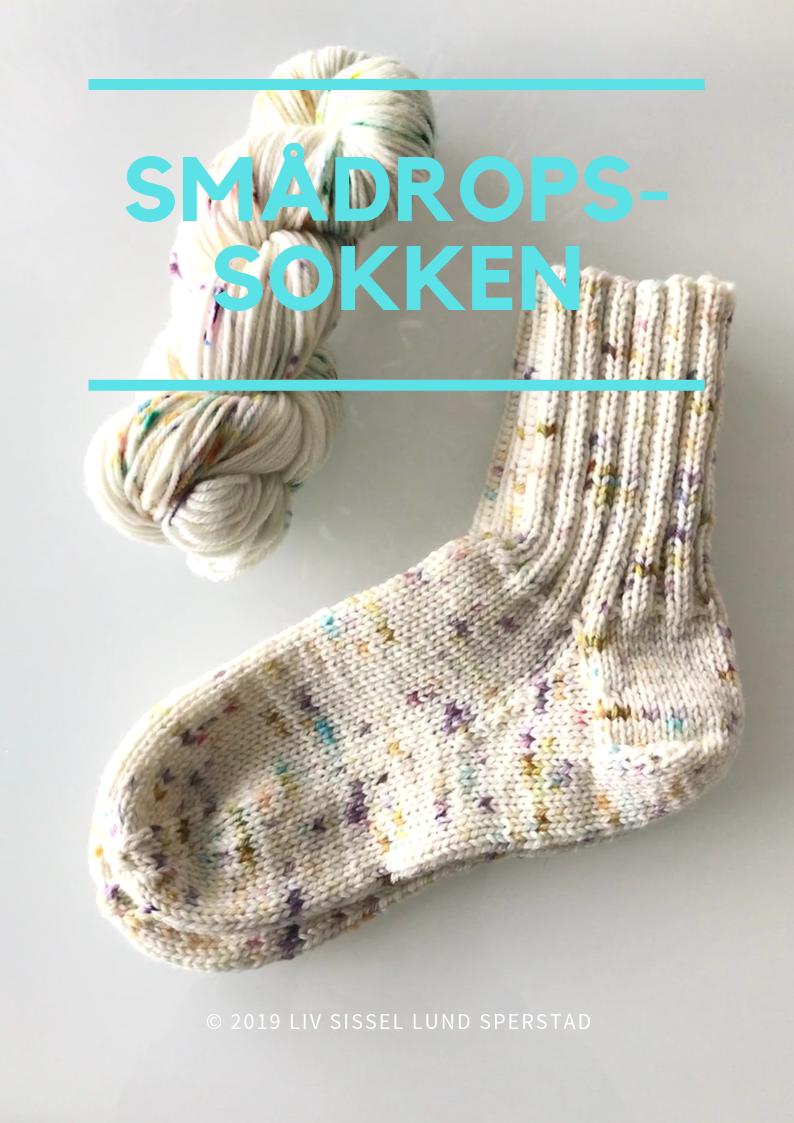 Strikkeoppskrift på sokker inkl garn av håndfarget garn
